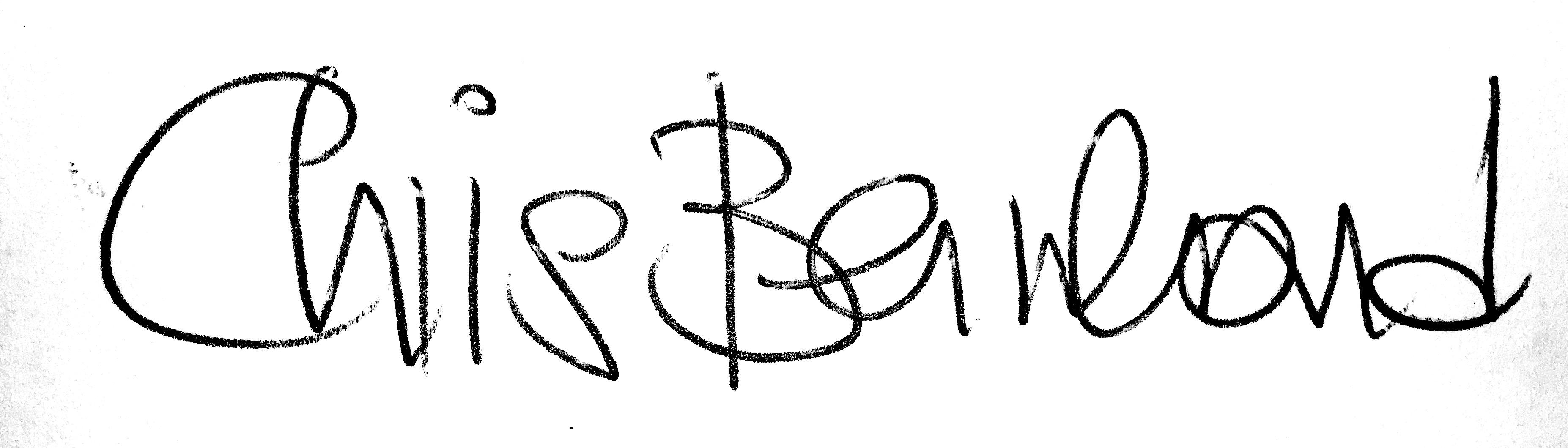 Beispiel Vorwort mit Unterschrift